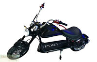 BLACK Electric Scooter 2000W Fat Tire Chopper Harley Style Motorcycle 60V Batt
