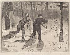 Winslow Homer Prints and Drawings: Deer Stalking, Adirondacks : Fine Art Print