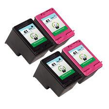 4 Pack HP 61 Ink Cartridge - Deskjet 1000 Deskjet 1050 Deskjet 2050 Printer