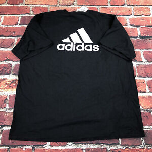Mens XL Adidas Back logo basic T-Shirt Black white logo new