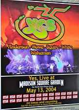 YES, Live at MSG, Original Poster