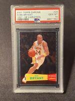 Kobe Bryant 1957-58 Variation 2007 Topps Chrome #24 PSA 10 Gem Mint Low Pop