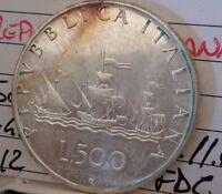 REPUBBLICA ITALIANA 500 Lire 1970 Caravelle fdc DA DIVISIONALE