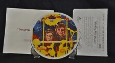 "Norman Rockwell 1977 Collector Plate ""The Toy Shop Window"" Mib"