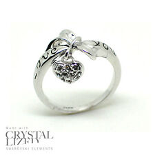 LOVE YOU Swarovski Elements Crystal 18-KRGP White Gold Plated Wedding Band Ring