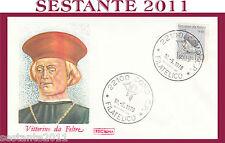 ITALIA FDC ROMA 1978 VITTORINO DA FELTRE ANNULLO COMO G804