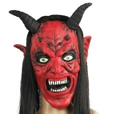 Red Face Bull Demon King Ox Monster Devil Evil Costume Halloween Party Prop Mask