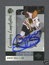 Bobby Hull signed UD Legendary Lamplighters hockey card