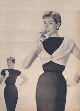 Vintage Knitting PATTERN Shrug Bolero Sheath Dress 1950
