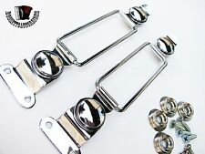 Chrome Metal Accordion Bellows Clasps Straps Imported from Italy