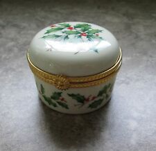 Lenox Round Holiday Mini Hinged Box - In Original Package - Euc
