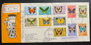 1966 Madang Papua New Guinea First Day Souvenir Cover FDC To England Butterflies