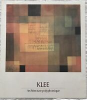 BEAUTIFUL VINTAGE ARCHITECTURE RARE ART POSTER PRINT BY SWISS ARTIST PAUL KLEE