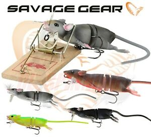 Savage Gear 3D Rad Rat Lures Surface Pike Fishing Bass Catfish Zander TACKLE