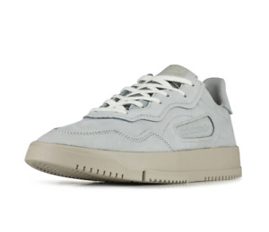 adidas SC Premiere Mens UK 7 EU 40 2/3 Grey Nubuck Leather Trainers Shoes EE6022