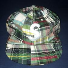 Supreme Patchwork Madras S Logo 6-Panel Green Plaid In Hand Fast Shipping