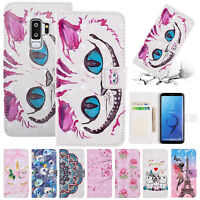 For Samsung Galaxy S8 S9 Plus S7 Edge Case Flip Leather Wallet Stand Phone Cover