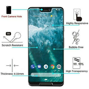 For GOOGLE Pixel 3 XL 4 Premium Shockproof Tempered Glass Screen Protector Guard