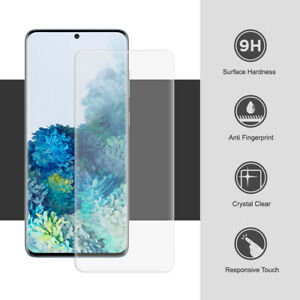 For Samsung Galaxy S10 S20 S9 S8 Plus Tempered Glass Screen Protector Case Cover
