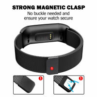 Stainless Steel Magnet Milanese Watch Band Luxury Strap Wrist for Fitbit Charge3