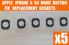 5x New Self Adhesive Rubber Gaskets For Home Menu Button iPhone 5 5C Free P&P UK