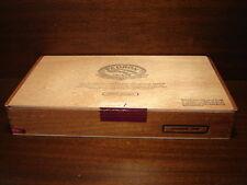 Large Cigar Box, Mahogany Wood, Brass Hinges, Padron 7000, Nicaragua, Empty Box
