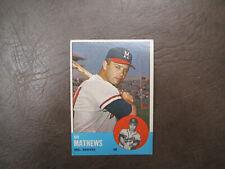 1963 Topps Eddie Mathews baseball card Braves  # 275 Vintage  Original