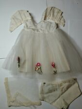 "16"" Vintage Antique Terri Lee tagged original white dress beautiful outfit"