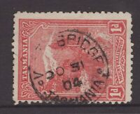 Tasmania WOODBRIDGE postmark on 1d pictorial rated S+ (6) by Hardinge