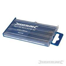 Silverline 20 Piece Steel Bits HSS Micro Drill Bit Set Fine Drilling - 944740