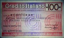 """Lotto """"Credito Italiano"""" II di mini-assegni anni '70"""