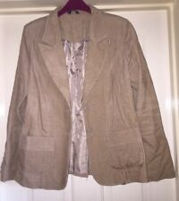 Editions Tan Cord Blazer Jacket and Coat Size 14