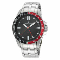Jacques Lemans Men's Sport 44mm Black Dial Stainless Steel Watch