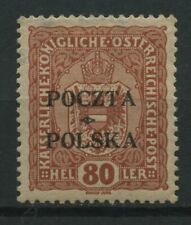 Polen 1919 Fischer Nr 43 * MH krakauer Ausgabe geprüft Wiatrowski PZF