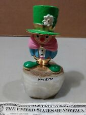 Ron Lee Clown 4 1/2 in Figure Irish Attire and Hat on a Marble Base