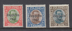 Iceland Sc C9 - C11 Zeppelin Set VF Mint Never Hinged