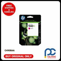 New & Original HP C4908AA #940XL MAGENTA Ink Officejet 8000-A809a/A811a 8500