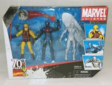 "Marvel Universe 3-Pack Daredevil, Iron Man & Silver Surfer 3.75"" Figures Hasbro"