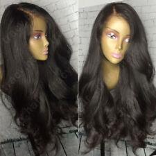 Unverarbeitete 100% Remy Echthaar Perücke Gewellt Lace Front Wig Spitze Perücken