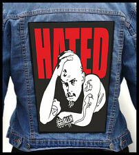 GG ALLIN - Hated --- Giant Backpatch Back Patch