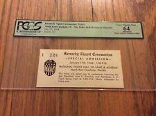 1964 President John F. Kennedy & Patrolman J.D. Tippit Ceremonies Ticket PCGS