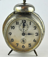 Antique Vintage German Haller Alarm Desk Clock 1930`s
