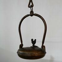 alte Grubenlampe, Linsenlampe, Öllampe, Lampentyp erstmals eingesetzt vor 1914