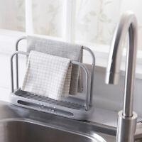 Kitchen Sink Sponge Holder Storage Rack Dishcloth Holder Cleaning Organizer