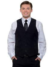 Cotton Blend Patternless Waistcoats for Men