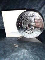 Vintage 1979 Vacumet SUSAN B ANTHONY Silver Dollar Coin Bank MINT BOX key lot