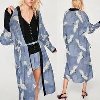 mode femmes Long Kimono CHEMISIER surdimensionné Bohême Cardigan écharpe