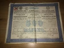 More details for bond loan koslow-woronesh-rostow russia 1889 railway share certificate 500 marks