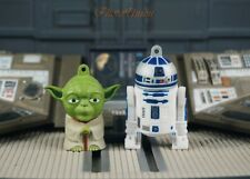 Star Wars Yoda Jedi Master Luke R2-D2 Astromech Droid Figure Cake Topper K1109HK