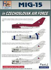 H-Model Decals 1/48 Mikoyan MiG-15 in CzAF, Pt.2 # 48016